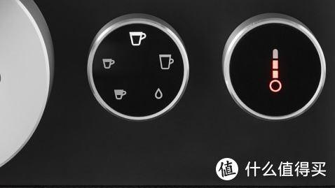 左边是咖啡种类选择;右边是萃取温度选择