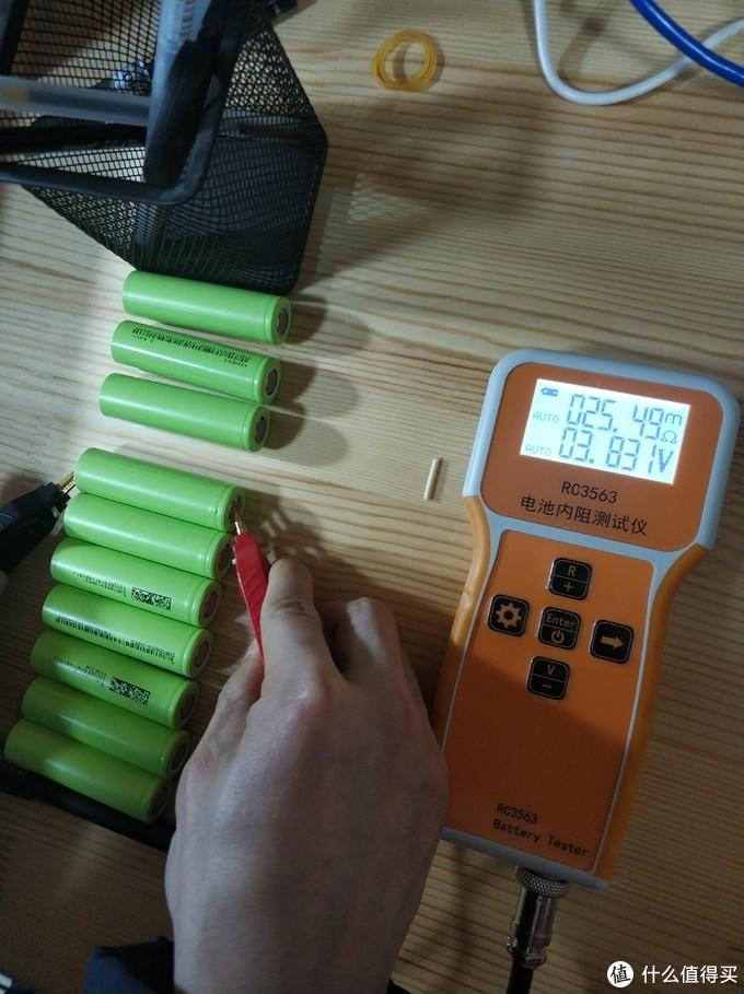 自己DIY用18650三元锂电池组装72V33.6AH两轮电动车锂电池(2:电芯验收)