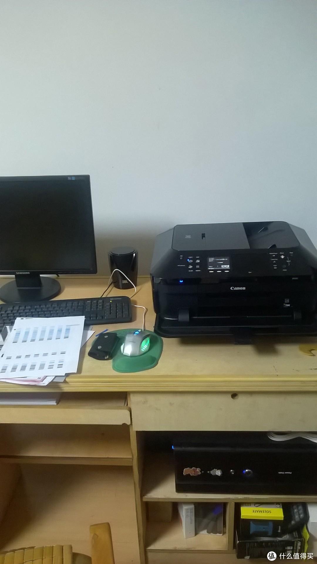 老妈家的电脑桌