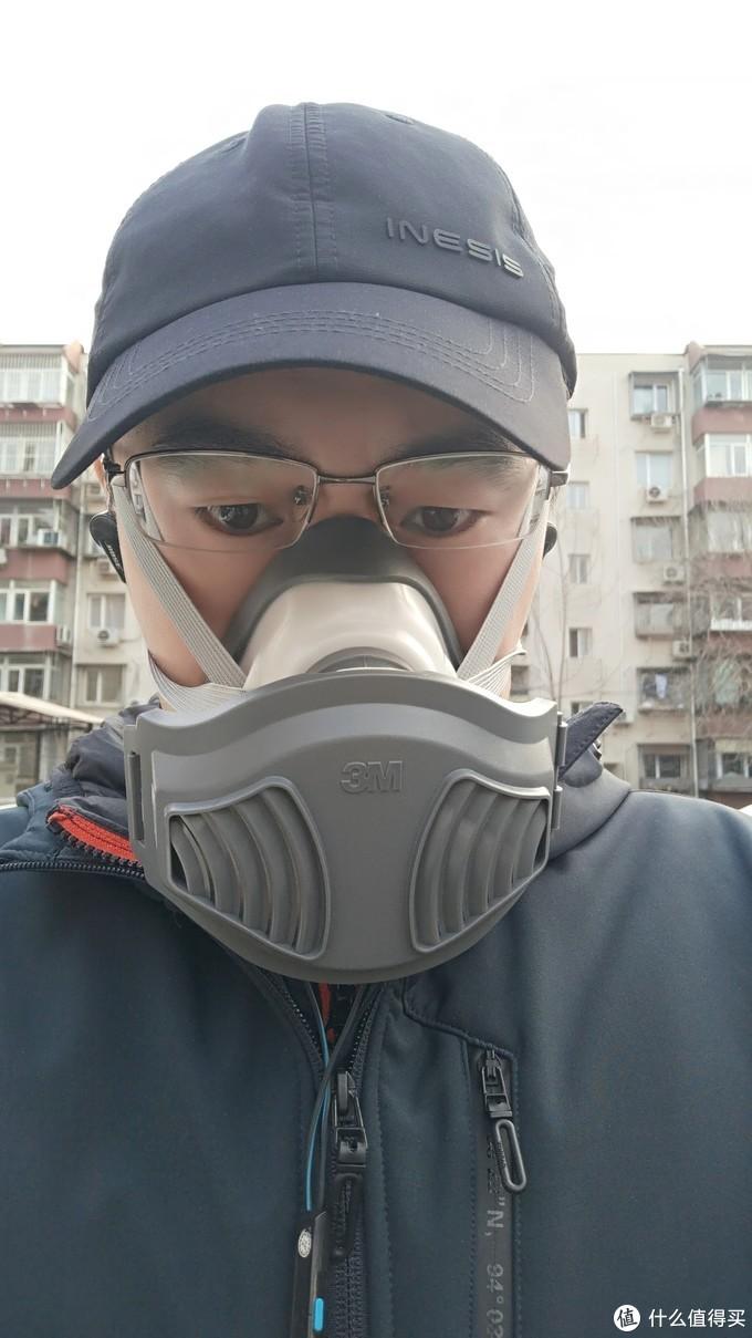 黑武士,我还差把光剑!远离口水味!3M1211套装面罩出街使用评测。