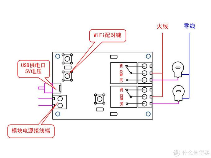 示意图,注意的是接灯时要串联电阻(这点本文用不上啊)