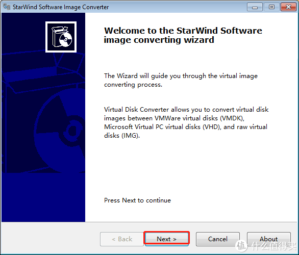 打开StarWindConverter.直接下一步