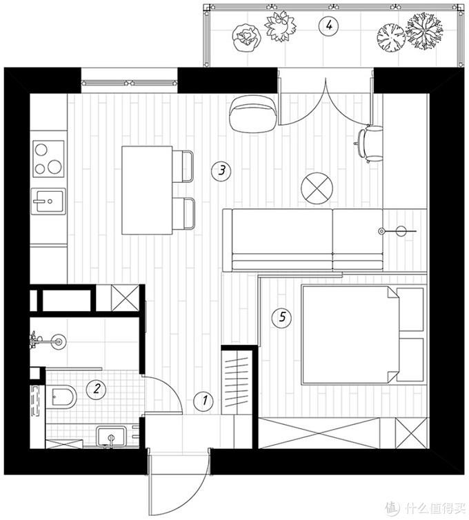 C叔宅:面积只有36平,这间特色木质小公寓却非常温馨