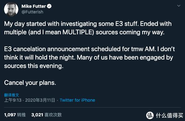 重返游戏:多个业内人士表示E3 2020游戏展或将取消举办