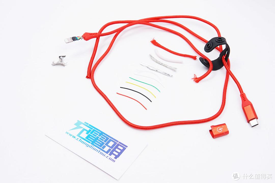 拆解报告:MIPOW麦泡MFi认证USB-C to Lightning快充编织线CCL11