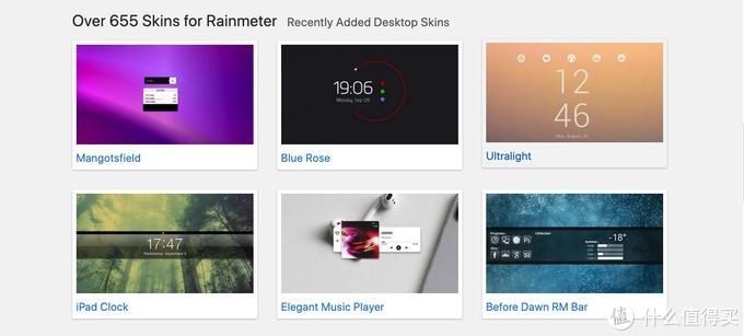 插件:Rainmeter Skins网站