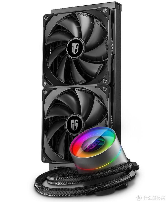 """""""变脸大师""""、防漏液:九州风神 发布 CASTLE 280EX 堡垒水冷散热器 支持AMD撕裂者"""
