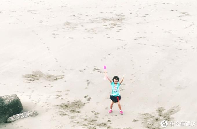 狂风下玩沙