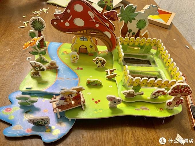 放假带娃玩什么?3D立体拼图种植园开箱体验