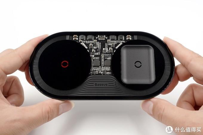 透明探索版?倍思极简二合一无线充电器(满血版)开箱评测(BS-W508)