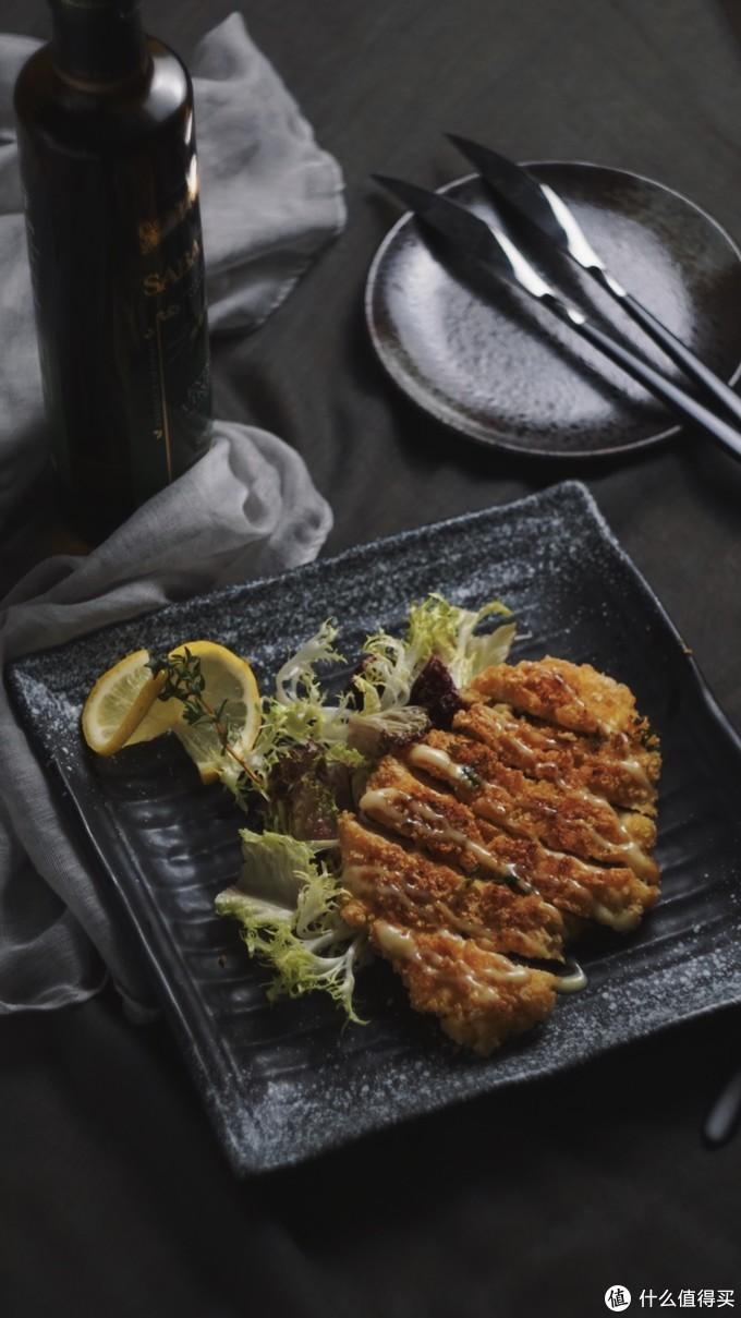 日式炸鸡排佐沙拉摄影x美食教程 在家也能拍大片!拍摄思路记录