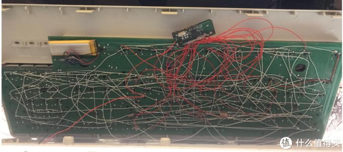 红色是短线,白色是连接好的矩阵