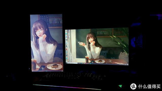 两个屏幕显色很不同