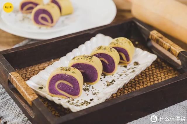 春季甜品紫薯卷,低卡还健康