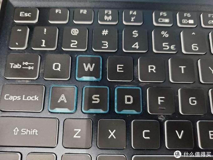 键盘上的使用痕迹