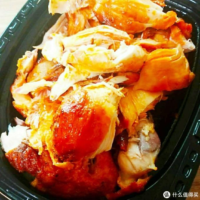 烤鸡,卖的时候是一整只完好的,还没来得及拍照就被拆好了