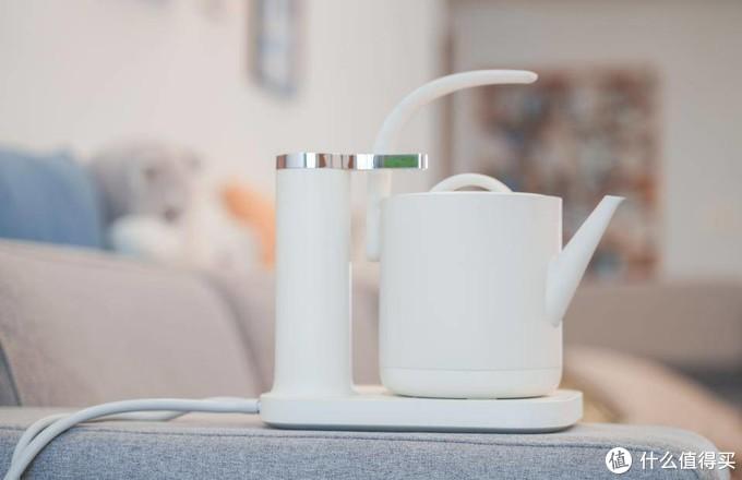 米家生态出品,一个居家热水壶也要很好看,三界茶具二合一电水壶