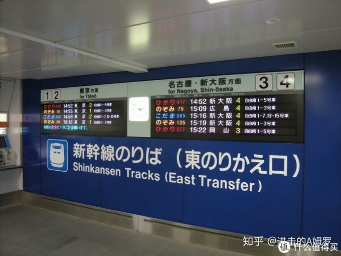 最基础的指示,售票机旁的车号,方向及席次指示。黄色数字即为月台号