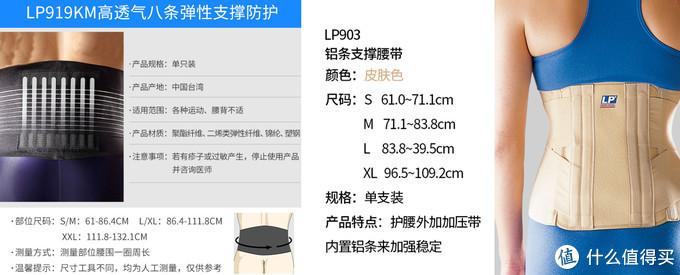 LP 919KM高透气运动支撑束腰带