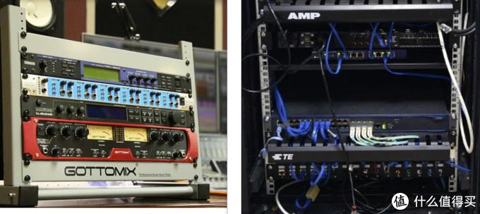 标准的网络设备和音频设备,连安装孔位都是互相兼容的