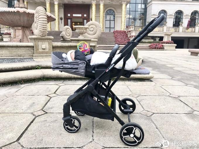 justyes嘉也婴儿车测评|高景观一键折叠婴儿车推荐 妈妈可单手拎