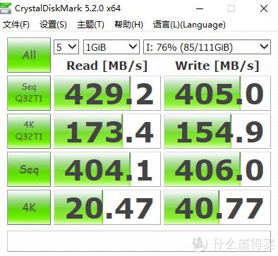 B85平台 USB3.0接口 76%满盘测试
