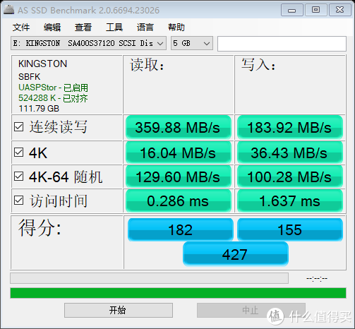 H110平台 USB3.0接口 76%满盘测试