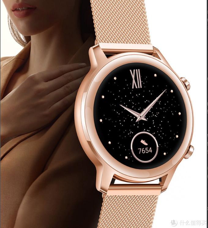 给女神送个有颜又有料的荣耀智能手表2,樱粉金超赞