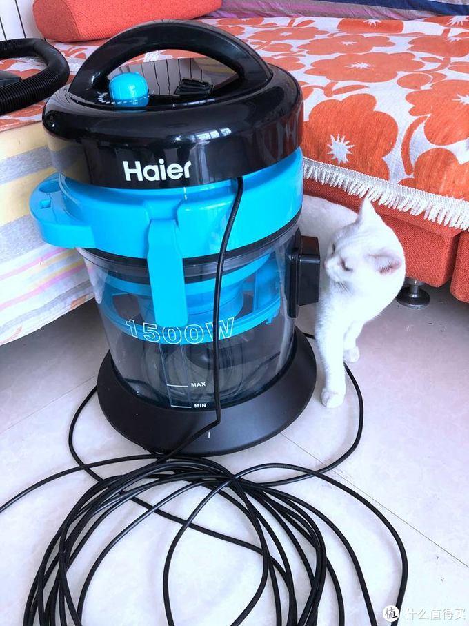 扫地机器人完美搭档-海尔水吸尘器HC-T5155B使用评测