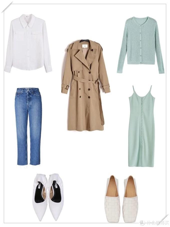 春季胶囊衣橱   5件衣服2双鞋,我搭出了7个LOOK