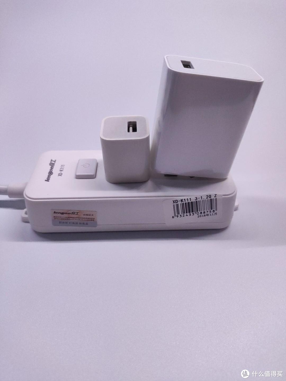 左侧苹果1A充电头,右侧小米k20原装充电器(翻车)