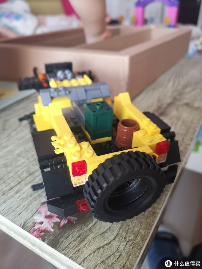 入手星堡积木篇二,拼超级黄的吉普车,做最靓的仔!