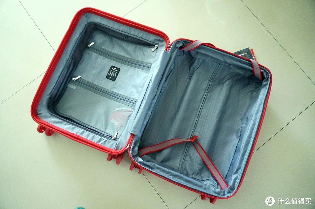 商旅收纳两用拉杆箱,瑞士血统24寸swiza 拉杆箱上手体验