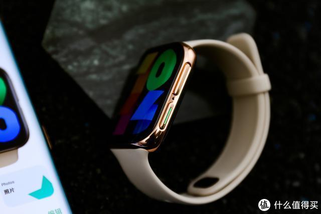 手腕上的mini手机!OPPO Watch粉金配色图赏