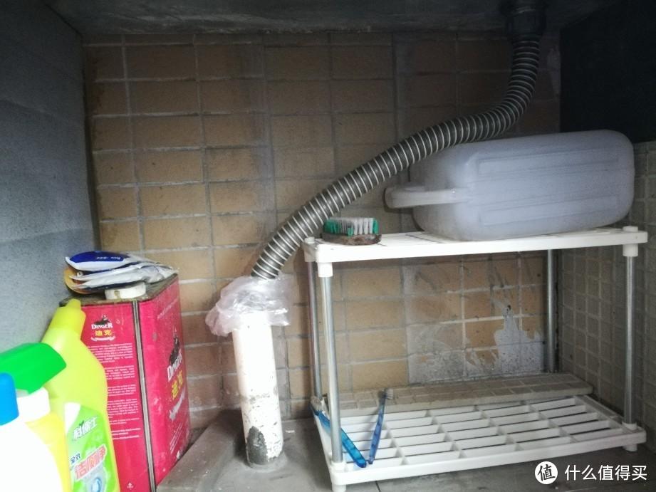 用潜水艇下水转折管挽救洗衣池下水
