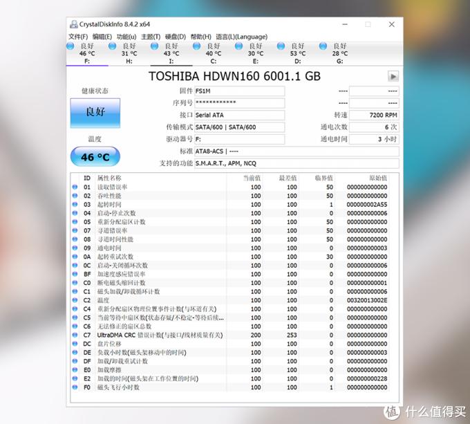 东芝N300硬盘整体信息▲
