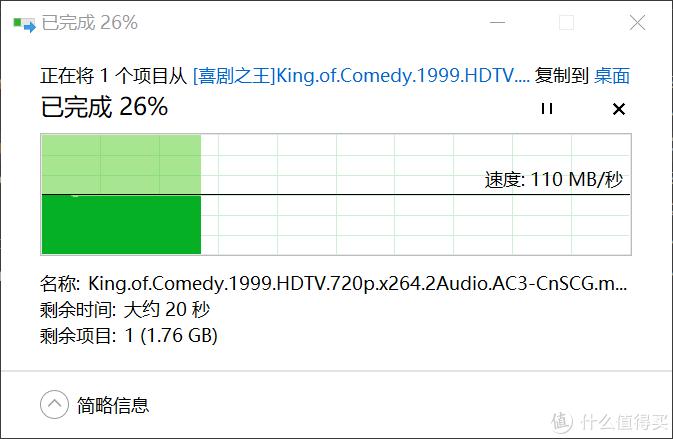 黑群晖和PC连接在同一台wdr7650下的文件拷贝测试