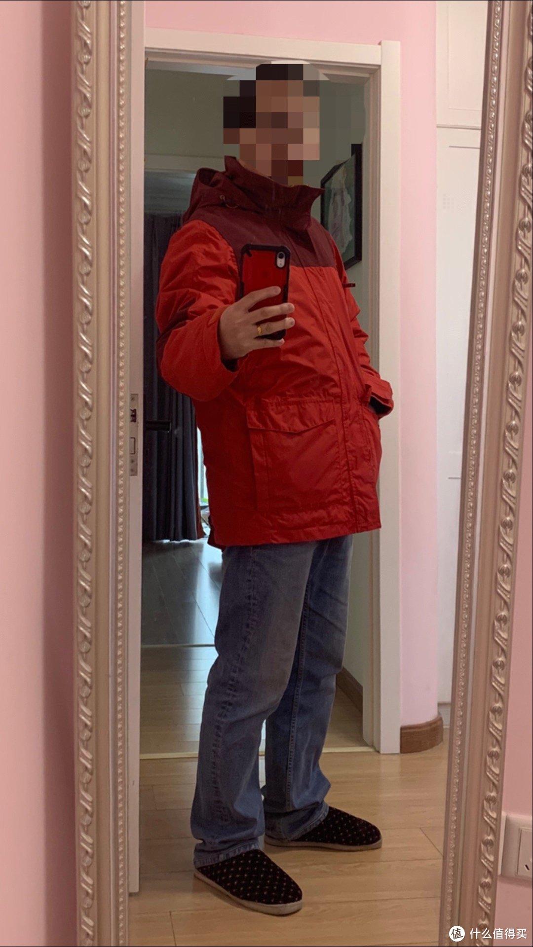图书馆猿の迪卡侬 QUECHUA JKT RAINWARM 200 M 男式冲锋外套夹克 简单晒