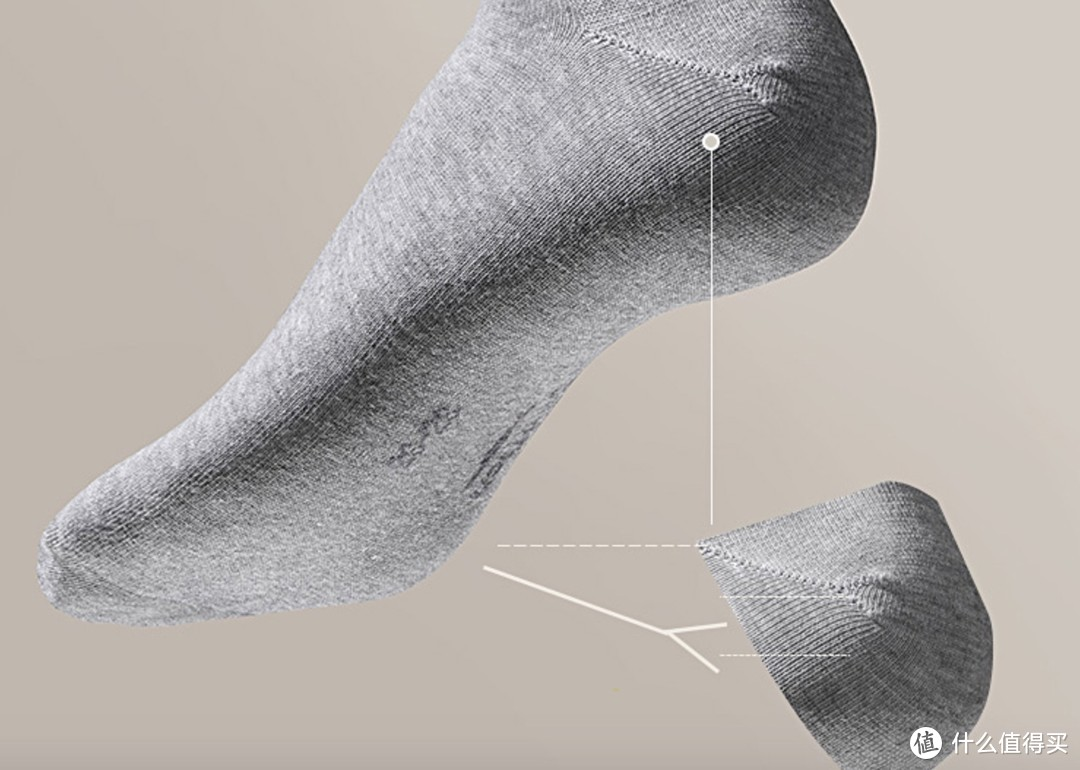 借用下商家的图Y型脚跟设计,不掉跟,我仔细看了下的确很普通袜子不一样。