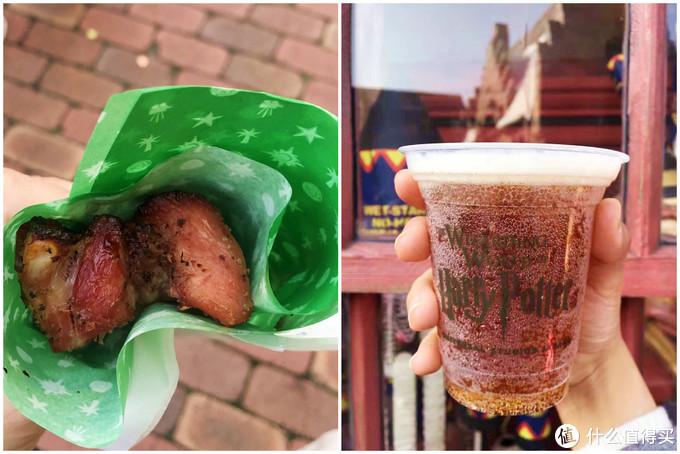 小吃亭的猪肋排和著名的黄油啤酒