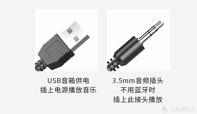 3.5mm接口,USB供电,符合要求
