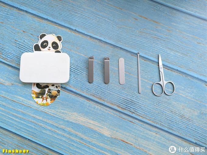 米家指甲刀五件套,用料扎实还精致的居家小物件
