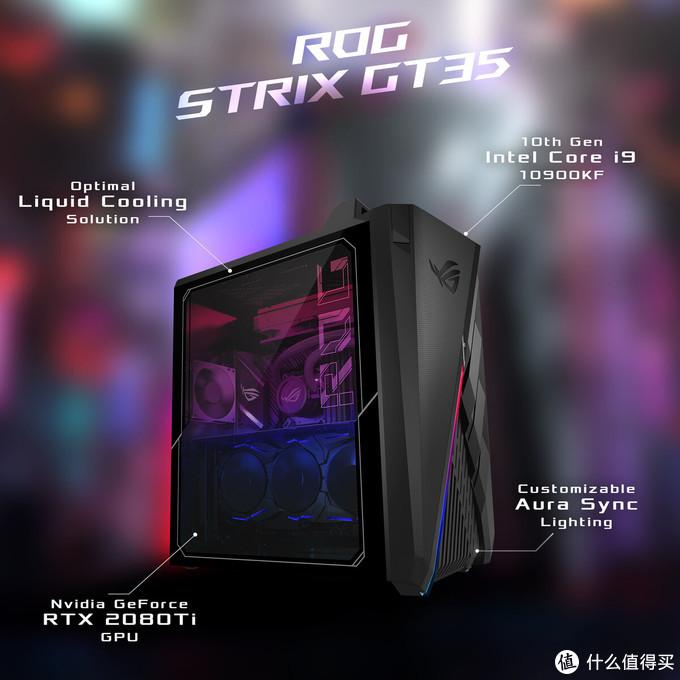 搭10核酷睿处理器并水冷压制:华硕发布 ROG Strix GT35 游戏主机