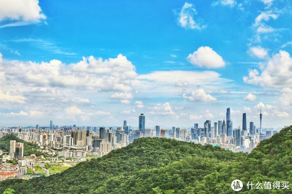 从白云山看广州市区