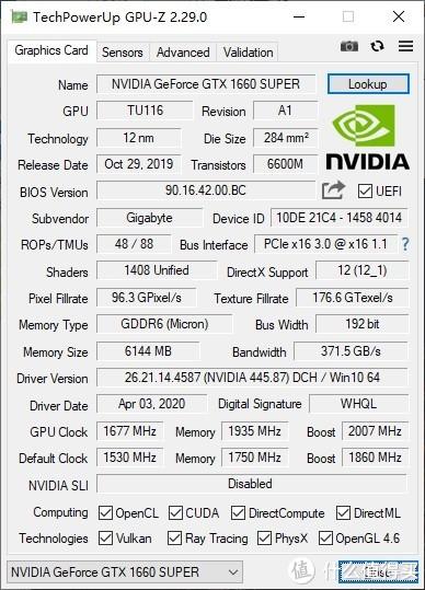 1660S显卡也有*级非公?没错,正是在下!技嘉GTX1660SuperGAMING OC显卡