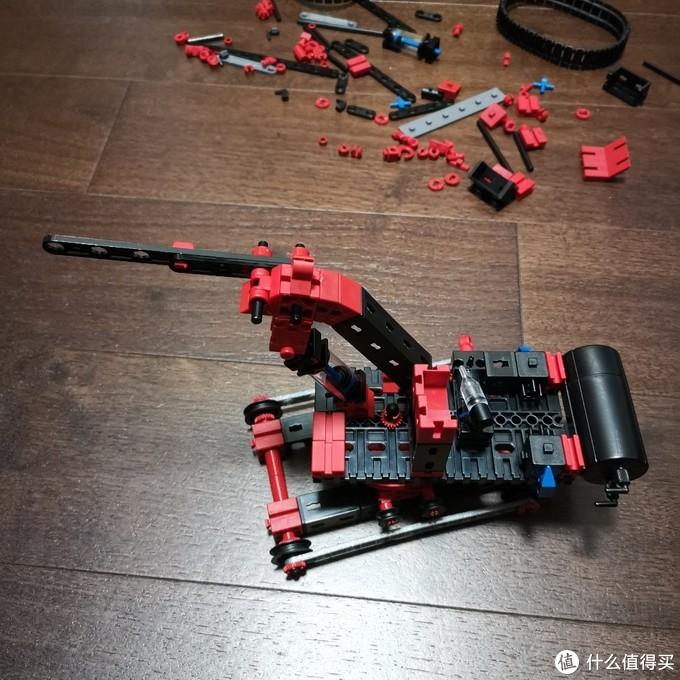老杨的玩具仓库 篇二十二:fischertechnik 慧鱼气动挖土机