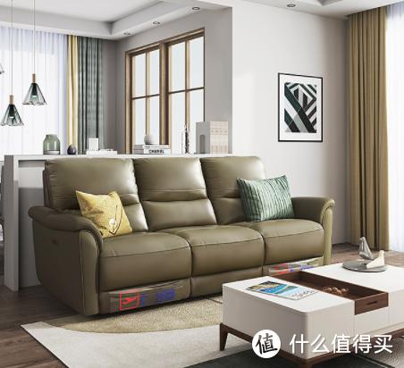 芝华仕新品发售真皮沙发,隐藏式双电动躺位,省出更多空间