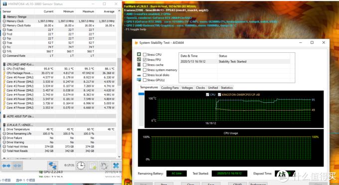 华硕天选 CPU 95.8 GPU 79