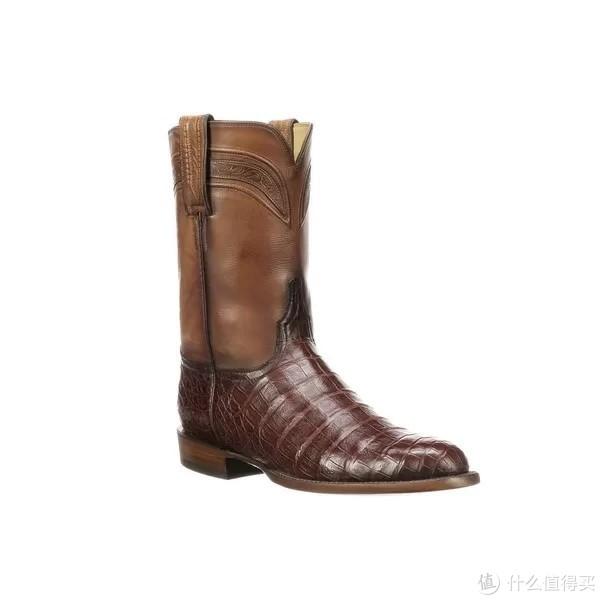 Wilson Brown Crocodile Roper Boot