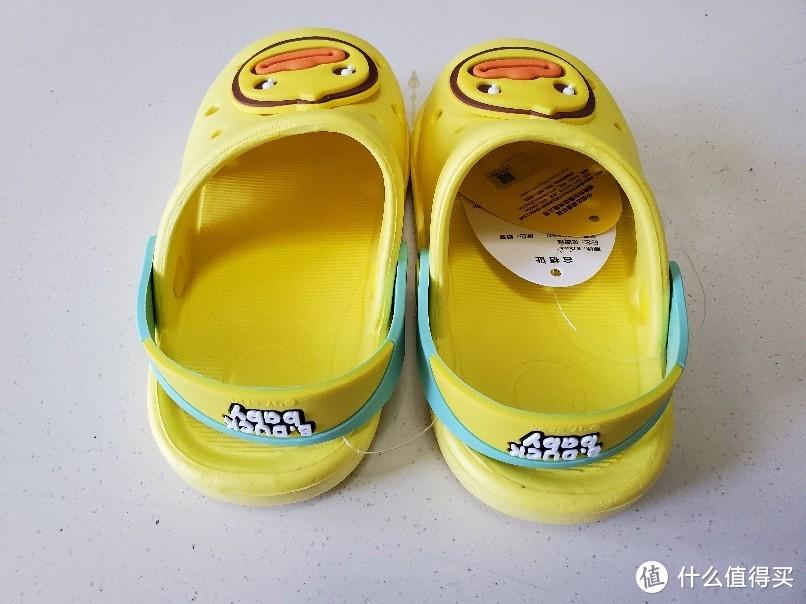 22块包邮的B.Duck 小黄鸭 儿童软底防滑拖鞋 开箱